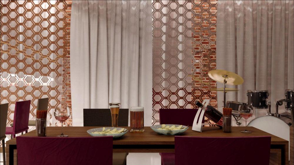 rendus d'intérieur 3D restaurant espace commercial