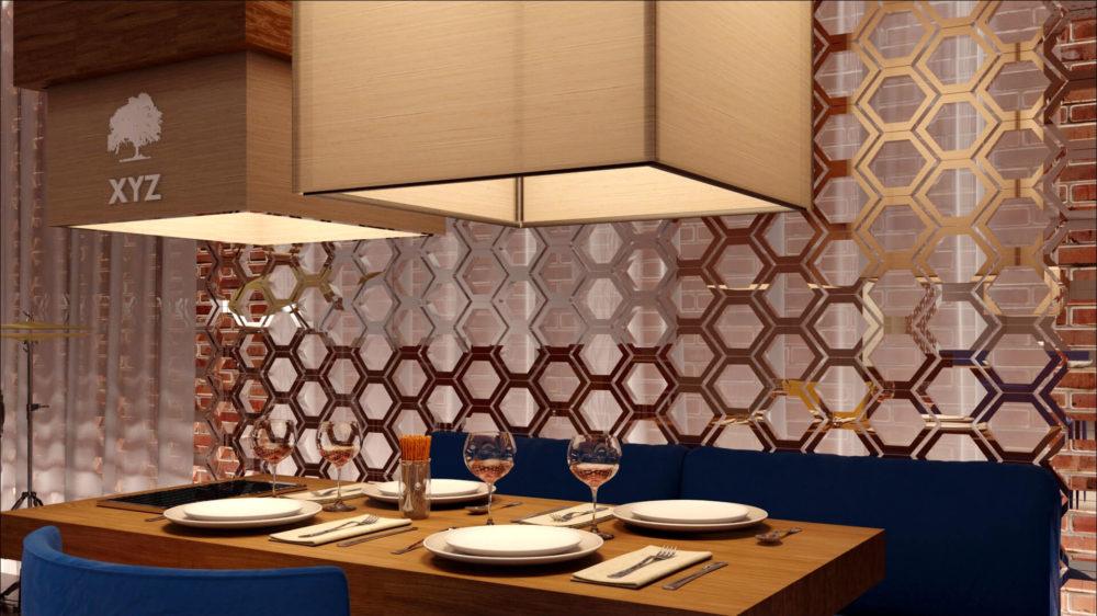 rendus d'intérieur 3D d'un aménagement commercial