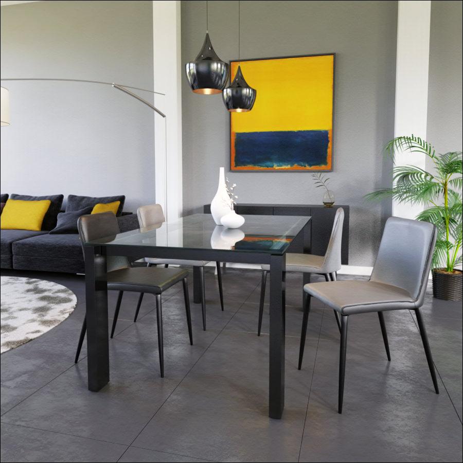 modelisation 3D chaise dans salon intérieur design