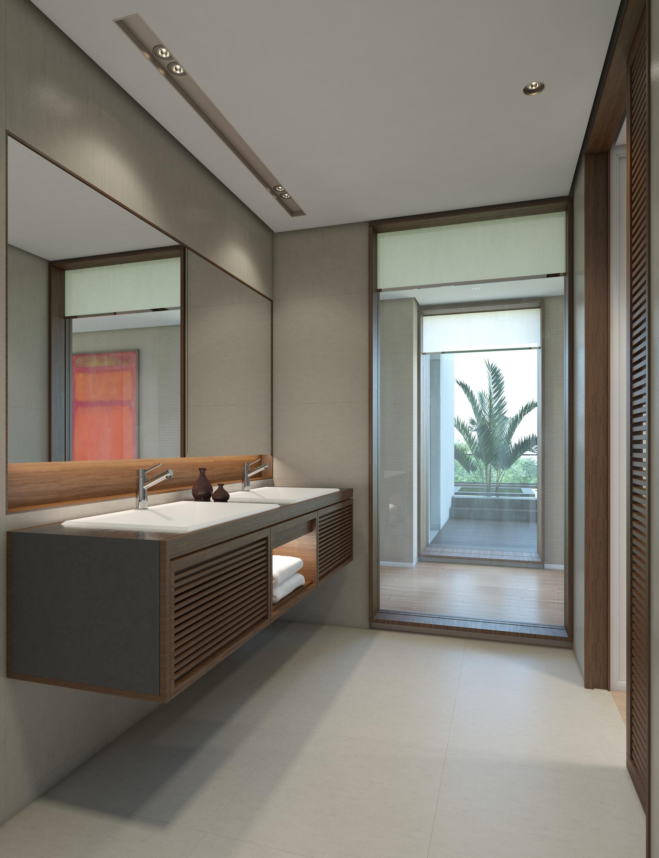 perspective architecture intérieure salle de bain ambiance moderne