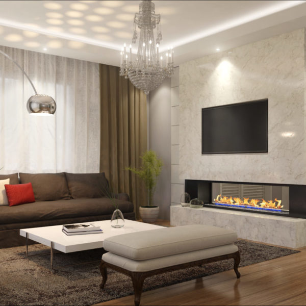 visualisation 3d de meubles salon ambiance moderne - CGI product photography