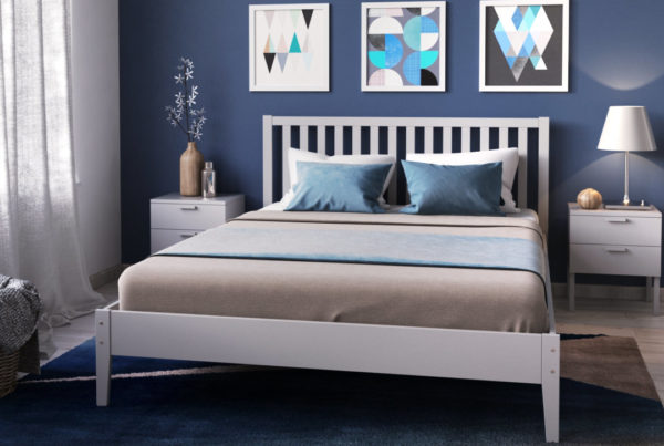 création de visuel 3D à partir de a modélisation d'un lit