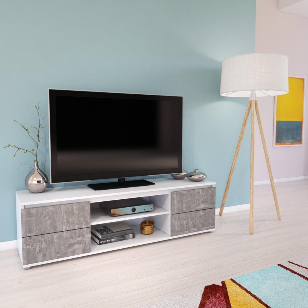 modélisation et mise en situation 3D meuble TV