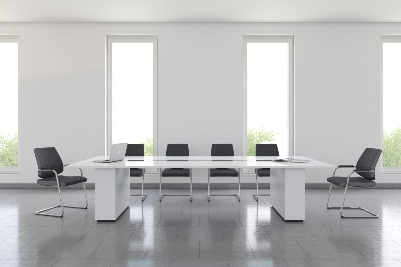 rendu 3D photo réaliste d'une table de réunion