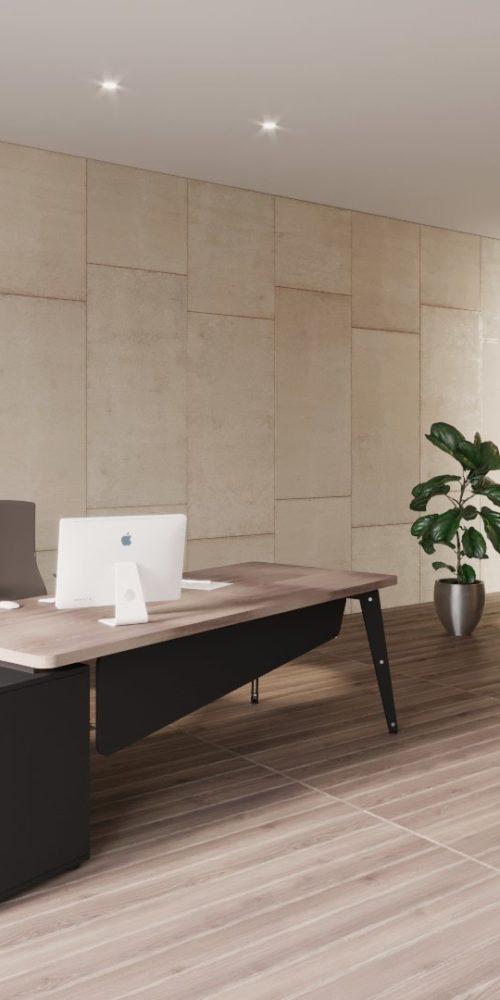 rendu 3D photo réaliste de mobilier de bureau