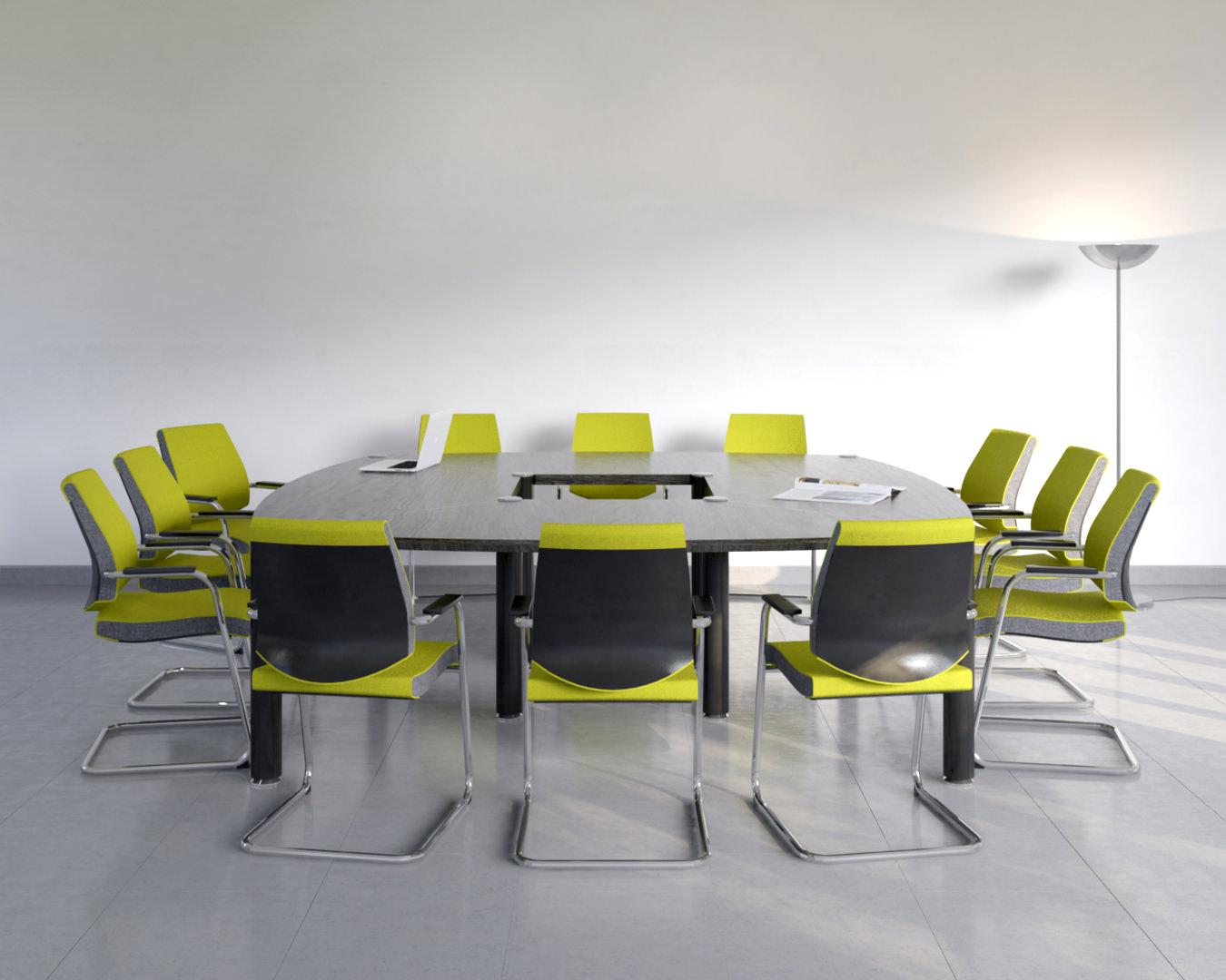 rendu 3D photo réaliste de mobilier de bureau design - table de réunion