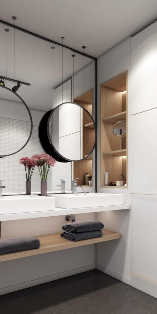 perspective architecture salle de bain - visuel 3D photo réaliste illustré
