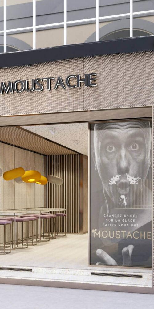 perspective d'architecture 3D commercial pour illustrer covid et immobilier
