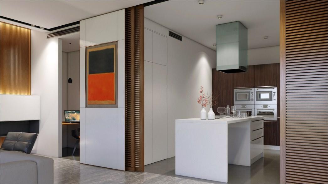 image 3D intérieur réalisée par ordinateur à destination des architectes