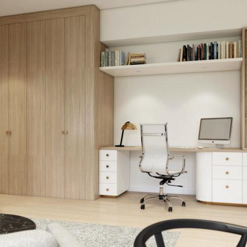 perspective d'architecture d'un projet - design intérieur