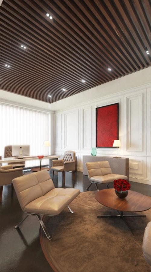 modélisation 3D de meuble et réalisation d'une perspective d'architecture pour un designer d'intérieur