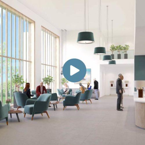 portfolio et preview d'une animation vidéo pour architecte promoteur