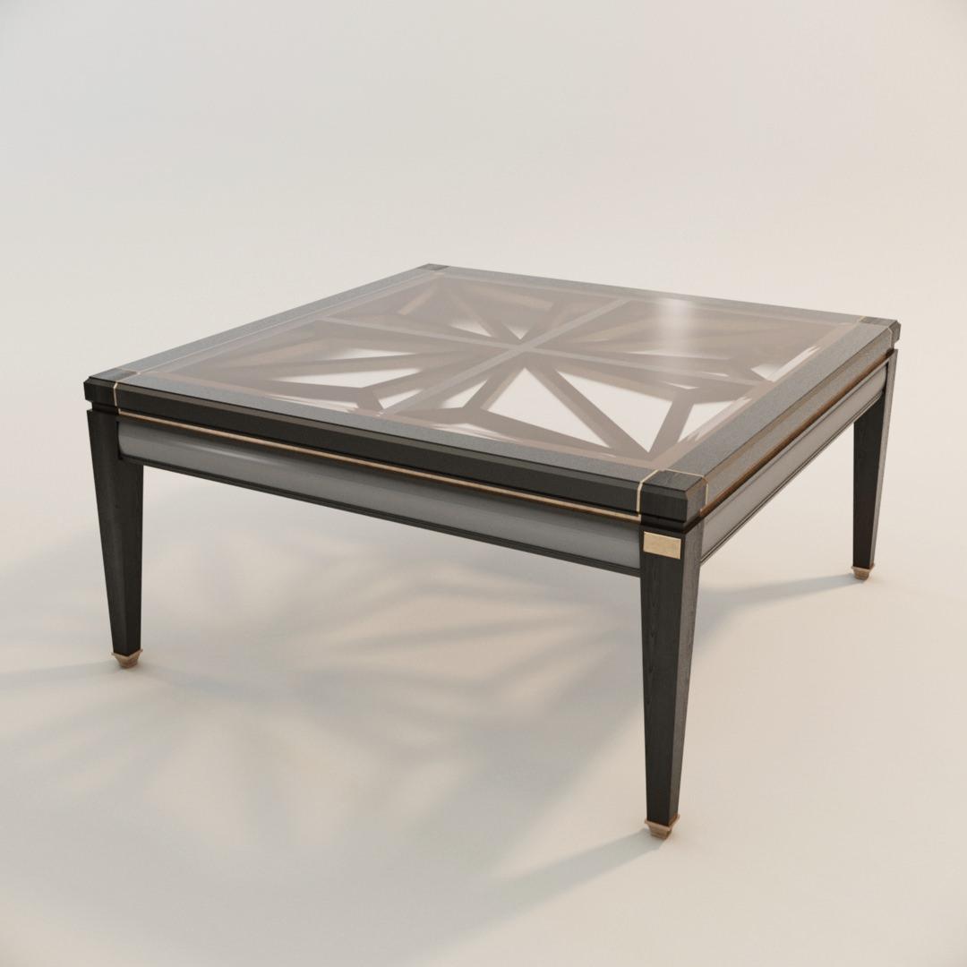 modélisation 3D photoréaliste du prototype d'une table de salon