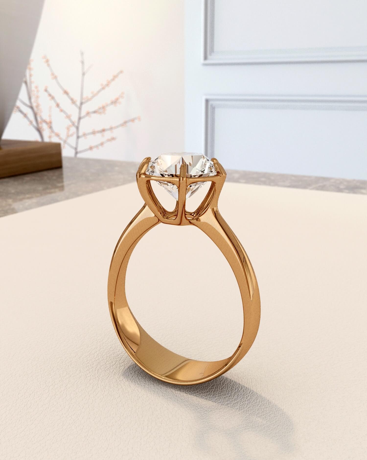 rendu 3D photoréaliste d'un bijou
