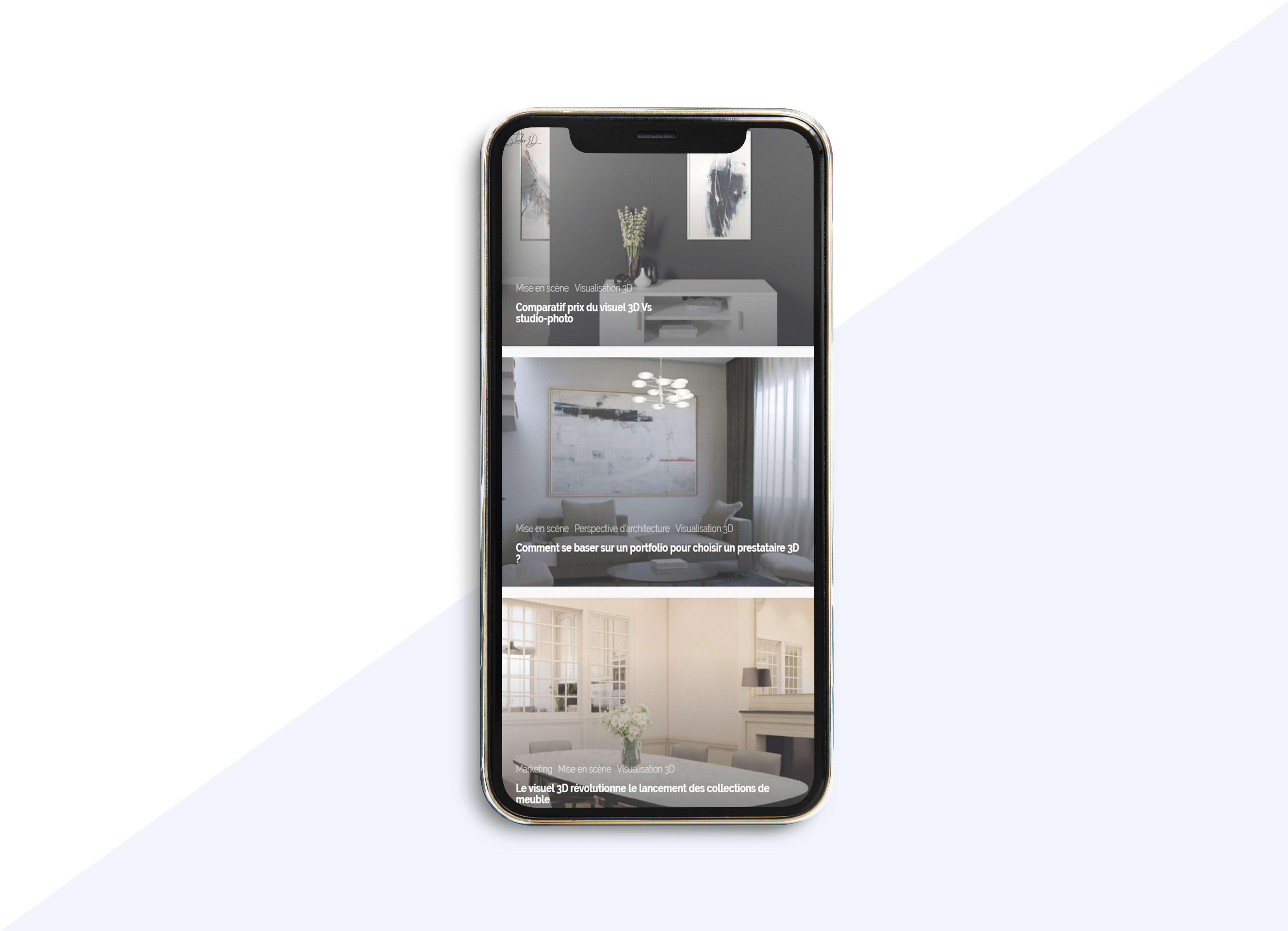 utilisation de visuels 3D dans un site responsive - marché du meuble sur internet
