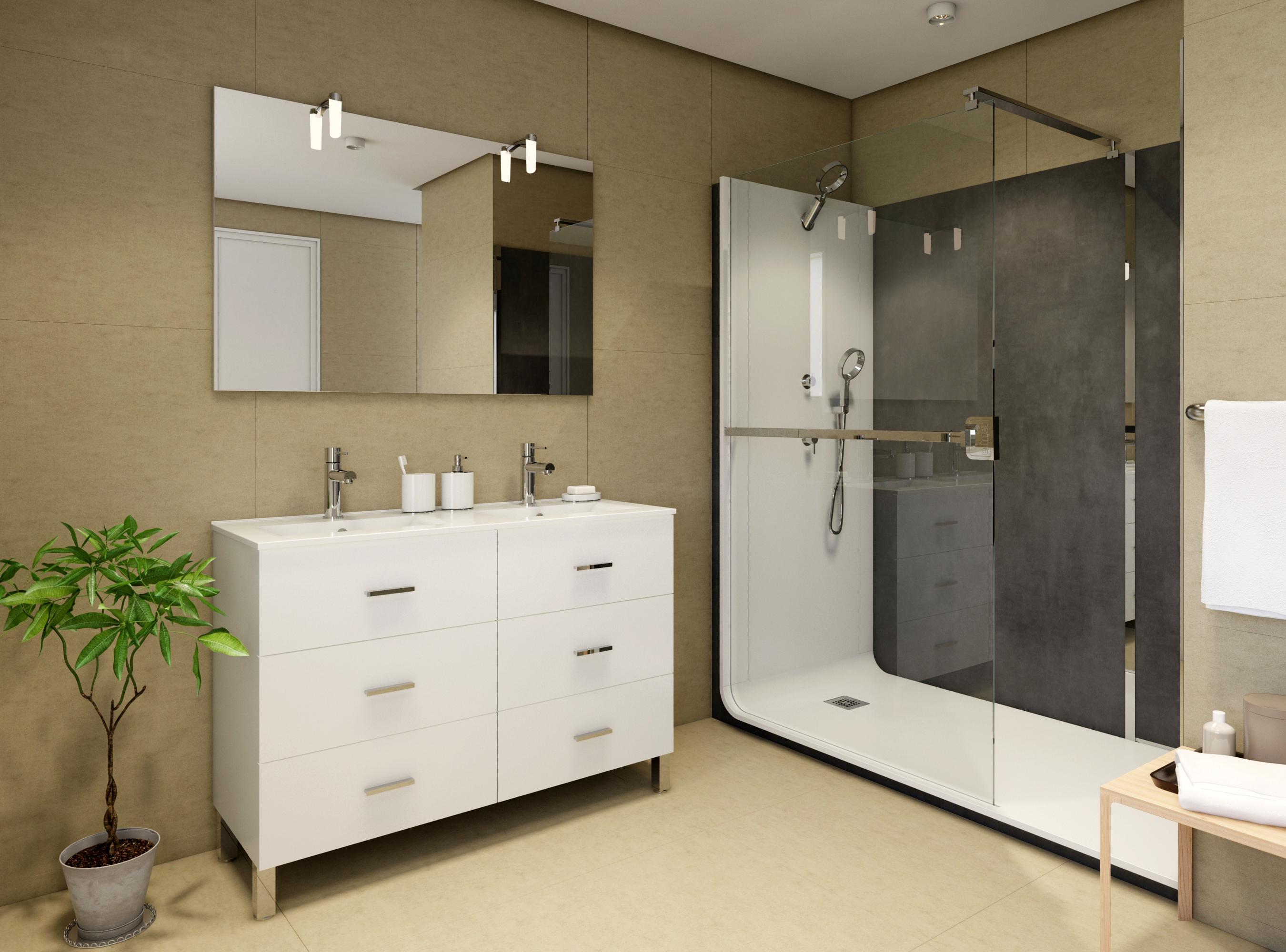 Prestataire de visuel 3D de meuble de salle de bain