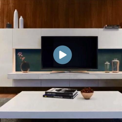 vidéo d'animation 3D d'un appartement conçu par un architecte intérieur et un promoteur immobilier