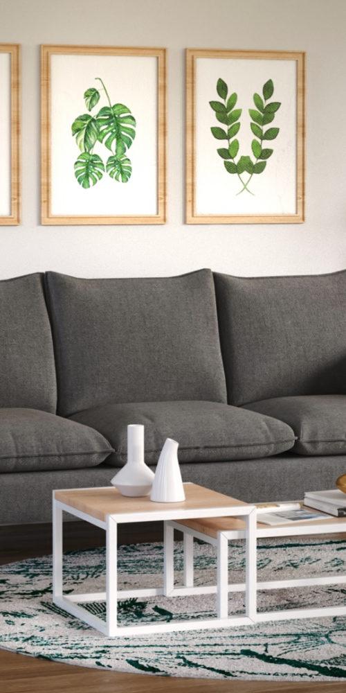 prise de vue 3D d'un canapé modélisation 3D