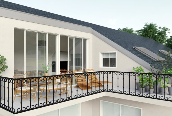perspective d'architecture extérieure en 3D photo virtuelle