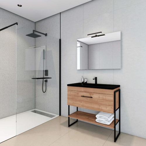 photo virtuelle d'une salle de bain