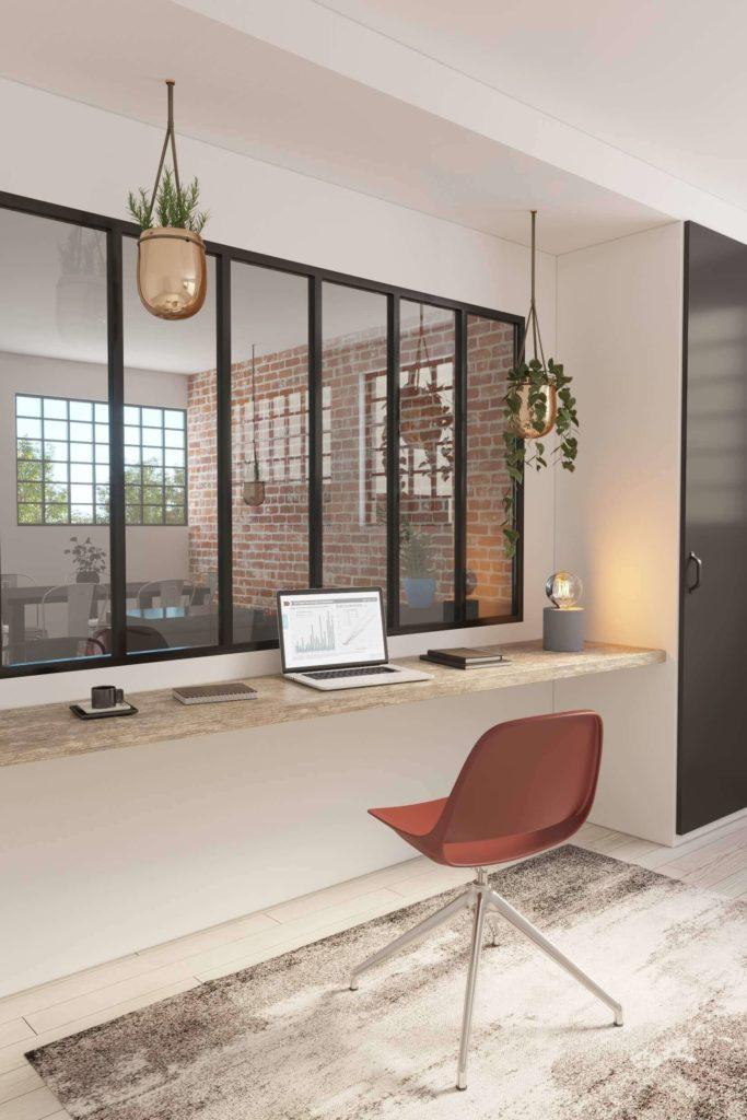 modèle pour configurateur 3D : mise en scène pour mobilier