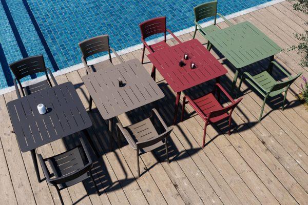 rendu 3D extérieur pour mobilier et déclinaison couleur produit