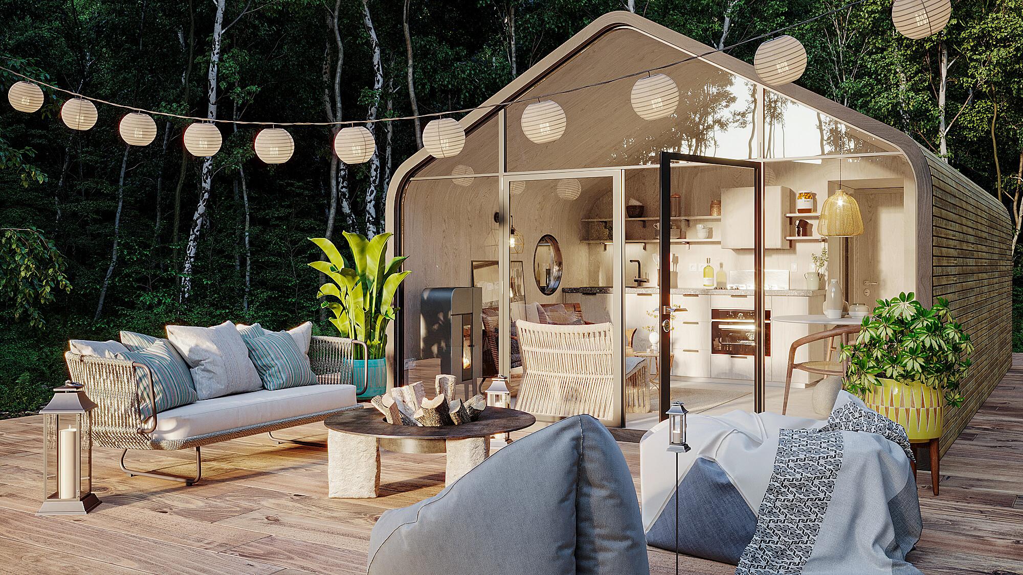 perspective d'architecte en extérieur photo réaliste - Le Studio 3D