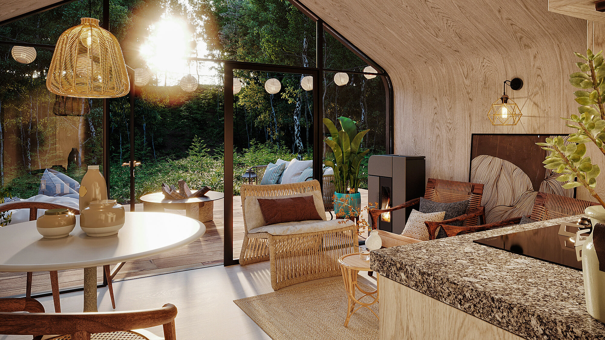 création de perspective d'architecte en intérieur - LE Studio 3D