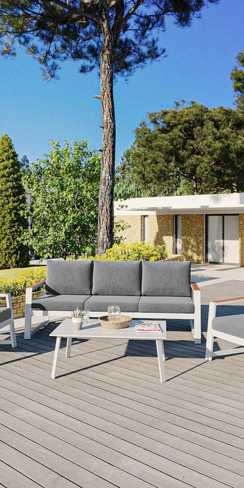 rendu 3D extérieur pour mobilier : mise en ambiance villas