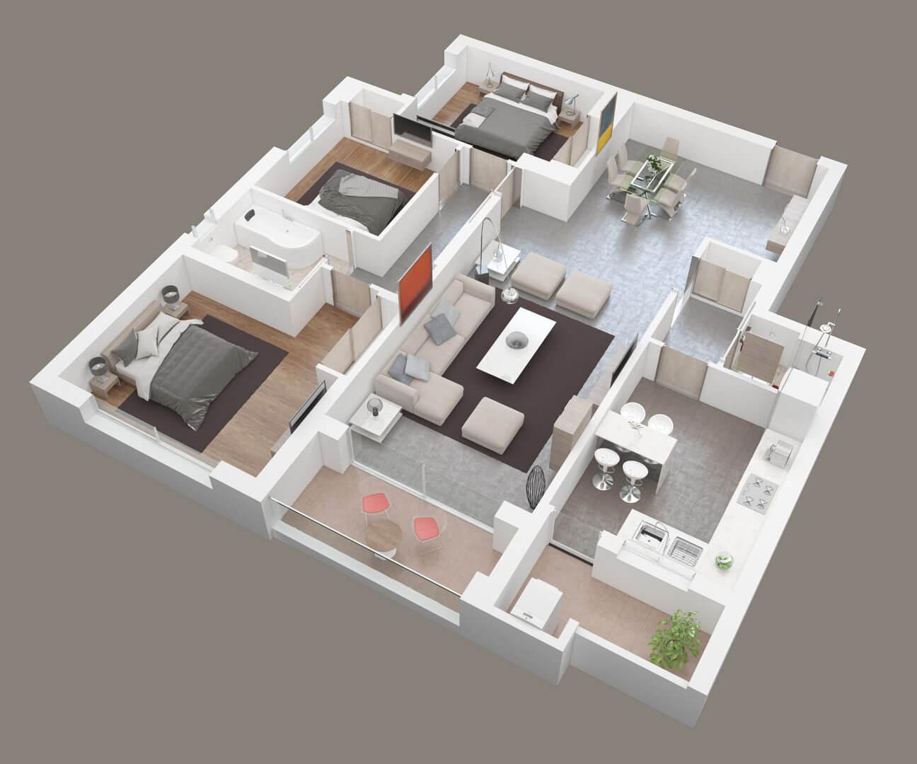 Le plan 3D, l'allier du logement neuf